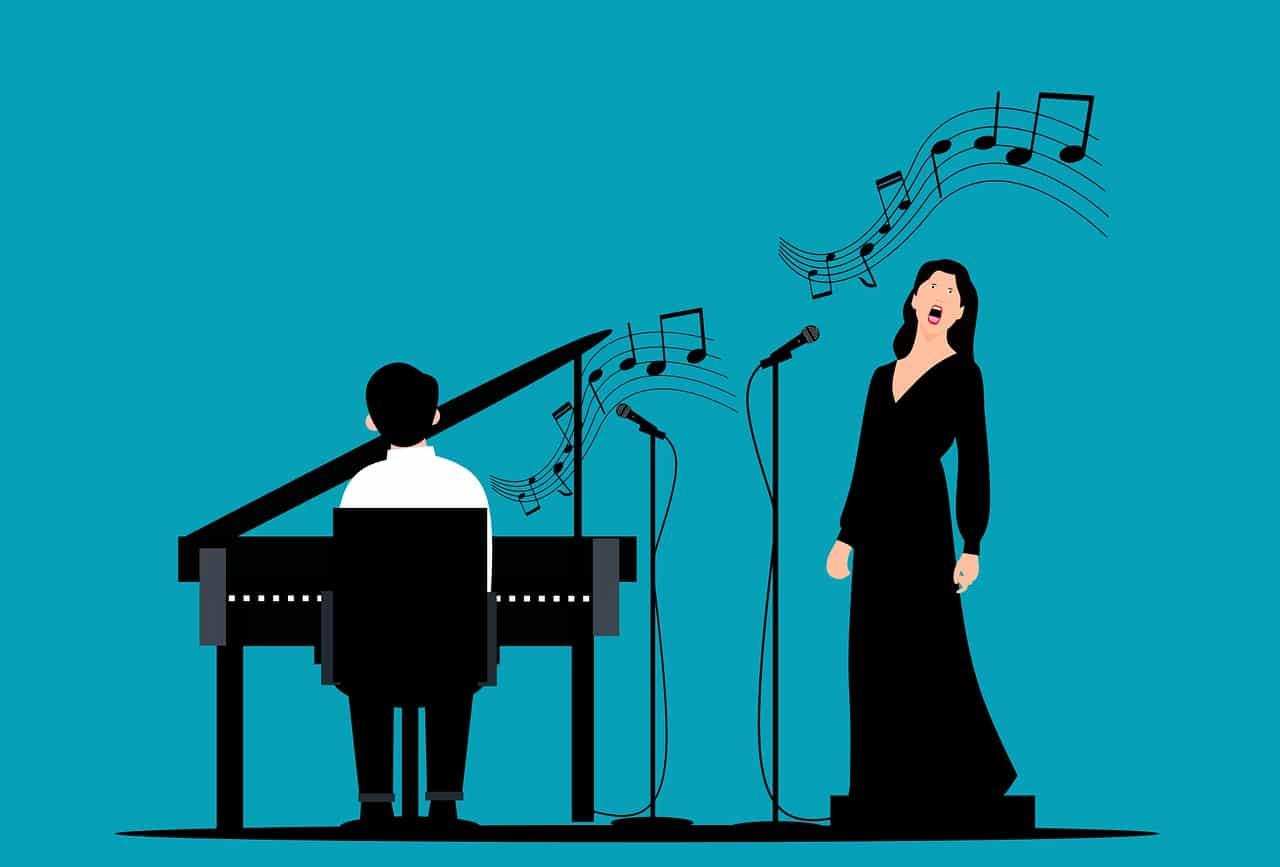 piano, pianist, singer